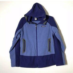 Vintage Patagonia Colorblock Purple Jacket Large